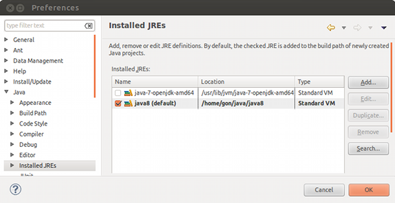 How to configure Java 8 in Eclipse IDE